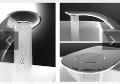 Swirl Sink, designed by Simin Qiu. Uses 15% less water and water looks beautiful.