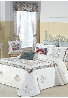 home precious peony quilted bedspread collection