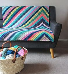 crochet blanket Havana Nights Blanket Crochet pattern by Rosina Northcott - Bring the colours of Cuban parties to your home with this spectacular blanket. This pattern includes full colour chart, written instructions, useful photos for colour changes Crochet Afghans, Motifs Afghans, Tunisian Crochet, Crochet Blankets, C2c Crochet Blanket, Crochet Quilt, Crochet Granny, Love Crochet, Crochet Gifts
