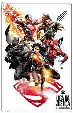 Liga da Justiça ganha cartaz especial criado por Ivan Reis | Notícia | Omelete