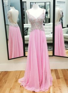Sequins Chiffon Prom Dresses,Real Made Floor-Length Prom Dresses,