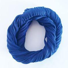 Azul Seco - Colar de Malha   Cachecol de Malha Lindo Acessório da Moda que VOCÊ confere na ColaresDaMah.com
