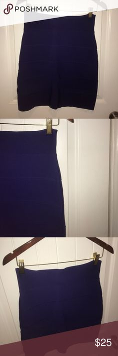 #newlisting {bcbg maxazria} Purple Bandage Skirt {bcbg maxazria} purple bandage skirt, size LARGE. Pull on. Bodycon style. RN80734 90% rayon, 9% nylon, 1% spandex. Machine wash. Tumble dry.          ••• 20% bundle discount •••          ••• make me an offer •••          ••• instagram: @curleeque #poshmarkpals ••• BCBGMaxAzria Skirts Mini