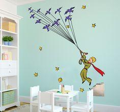 The Little Prince Flying Birds Wall Sticker Diy Home Decor, Room Decor, Wall Decor, Nursery Decor, Wall Paint Inspiration, Prince Nursery, Diy Wall Stickers, The Little Prince, Baby Boy Rooms