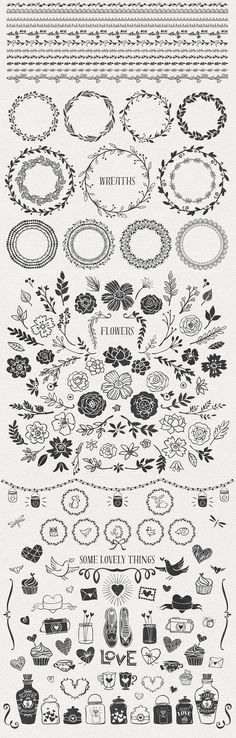 Hand-drawn Romantic Decoration Pack