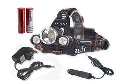 Boruit Headlight Head Torch Light Headlamp Head Lamps Flashlight Fishing Hiking