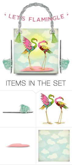 """""""Let's Flamingo Bag Design"""" by smorgasbordhotel ❤ liked on Polyvore featuring art, flamingos and artexpression"""