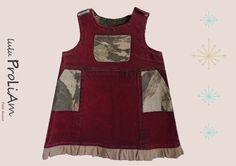 Robe trapèze, chasuble en jean Bébé 6 mois, robe tendance et moderne : Mode Bébé par lulu-proliam