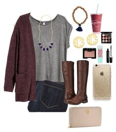 """fancy⚓️"" by morganmestan ❤ liked on Polyvore featuring Paige Denim, H&M, Brooks Brothers, Frye, QVC, Tory Burch, Rifle Paper Co, MAC Cosmetics, Marc Jacobs and Maybelline"