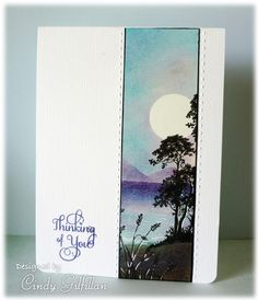 Serene Silhouettes, Paper: Watercolor, Ink: Distress Inks, good directions on splitcoast