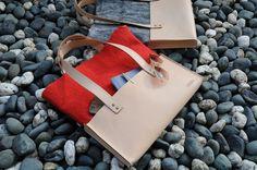 Digital Luxury Bag - felted wool + leather
