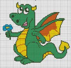 sandylandya@outlook.es  Dragon cross stitch pattern