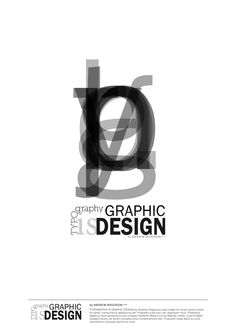 Typography is Graphic Design. by andyrogerson