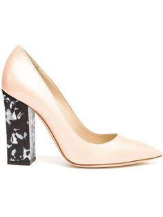 OMG #PERFECTION <3 these Pollini Leather Pumps with Mother of Pearl Marble Block Heels #BeingMaryJane 2SEE more DWNLD the #StyleID app! #TV #Fashion #Shoes