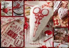 Needlework in red. Collages My Passion. Facebook