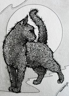 Diana Martin KITTY CAT inkwork on watercolor paper for sale Zentangle New Design. Love the cats stance. Animal Drawings, Art Drawings, Grand Art, Zentangle Drawings, Zentangles, Illustration Art, Illustrations, Art Graphique, Crazy Cats