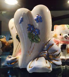 Vintage McCoy Heart Vase by BobsGoodJunk on Etsy
