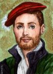 One of the very few paintings/portraits of George Boleyn who later became Lord Rochford after his sister Anne became Queen.