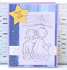 Christmas Cards with Shepherd and Lamb Boxed Set of 12