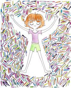 macyblu:  ángel de lápices