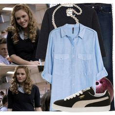 1x03 Lydia Martin-Pack mentality by elenadobrev90 on Polyvore featuring mode, MANGO, MHL by Margaret Howell, Armani Jeans, Puma and Dorothy Perkins