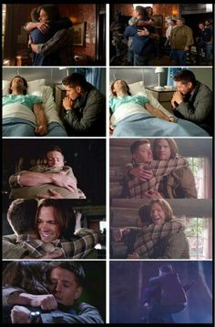 Awww, Dean and Sam vs Jensen and Jared