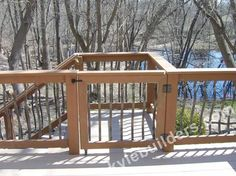 Pool Deck Gate Ideas how to build your own deck stair gate Deck Gate With Wheel