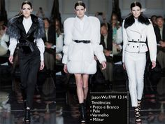 Desfile Jason Wu Fall / Winter 2013.14 - NYFW | Trend Alert: Black and white, fur, red and military.