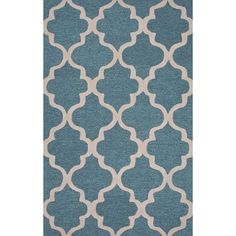 """JaipurLiving City Wool Hand Tufted Blue/Ivory Area Rug Rug Size: 3'6"""" x 5'6"""""""