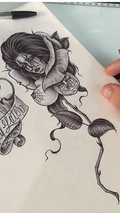 Tattoo Drawings, Pencil Drawings, Arte Lowrider, Estilo Cholo, Brown Pride, Chicano Art, Ideas, Pen Art, First Tattoo