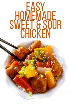 Easy Homemade Sweet & Sour Chicken - Layers of Happiness