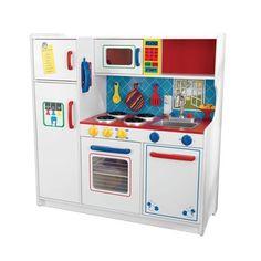 KidKraft Deluxe Let's Cook Play Toy Kitchen 53139 Kitchen Sets For Kids, Kids Play Kitchen, Kitchen Sale, Big Kitchen, Childs Kitchen, Kitchen Oven, Kitchen White, Country Kitchen, Kitchen Design