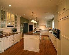 Traditional Kitchen White Kitchens Cabinets Dark Floor Design, Pictures, Remodel, Decor and Ideas - page 20
