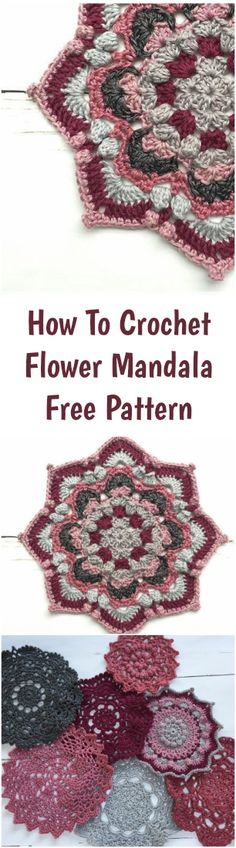How To Crochet Flower Mandala - Free Pattern - Crochet tutorials For Beginners - Free Crochet Patterns - Crochet Pattern - DIY Yarn Projects And Ideas - Crochet Stitch And Stitches - - Easy , Simple And Step by step - Free Learning Beginner Crochet - Answers on How To Make - Everything About Crochet