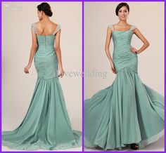 Wholesale Evening Dresses - Buy Cheap Elegant Sexy Sheath Column Sweep Train Prom Dress Cap Sleeve Beading Asymmtrical Neck Sash Pleats Ruffle Chiffon Evening Dresses YE-5, $85.0 | DHgate