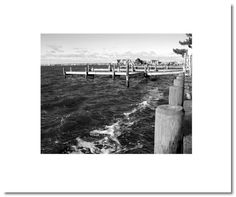 """Dave Gould black and white photography """"winter dock"""" page"""
