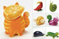 Food art - Smarties make fabulous eyes or noses