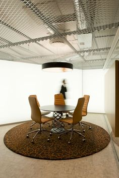 Custom rug for HQ Aspelin Ramm in collaboration with ZINC Interior Architects. Photo: ZINC.