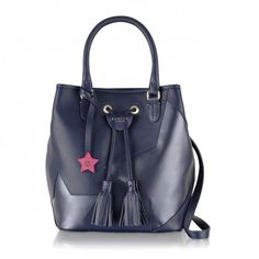How gorgeous is this Midnight Blue drawstring handbag from Radley £209