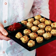 These savoury ham and cheese muffins are the perfect party snack to serve to guests but they also make a welcome snack anytime. Ham And Cheese Muffin Recipe, Muffin Tin Recipes, Cheese Muffins, Mini Muffins, Delicious Magazine Recipes, Afternoon Tea Recipes, Pampered Chef Recipes, Healthy Recipes, Aga Recipes