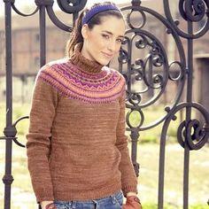 NobleKnits Yarn Shop  - Manos del Uruguay Limoges Fair Isle Sweater Pattern 2010D, $5.95 (http://www.nobleknits.com/products/Manos-del-Uruguay-Limoges-Fair-Isle-Sweater-Pattern-2010D.html)