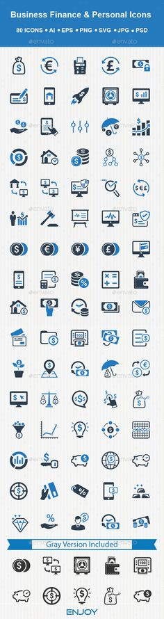 Personal And Business Finance Icons - Download: http://graphicriver.net/item/personal-and-business-finance-icons/14438141?ref=ksioks