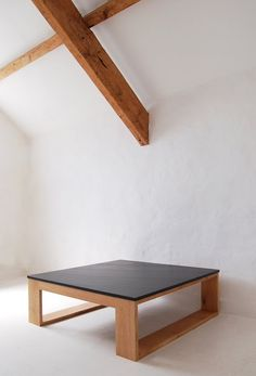 pachadesign: square slate coffee table