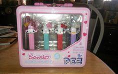 NICE Hello Kitty + My Melody PEZ Sanrio Candy Dispenser 4pc Box Set NO CANDY