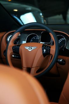 Bentley interior, all leather