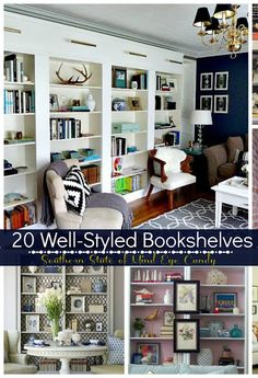 20 Well-Styled Bookshelves- I didn't realize bookshelf styling was such a big thing now....
