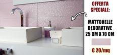Le offerte di Amida continuano! Rinnova il tuo #bagno con le #piastrelle #decorate effetto #bagnato: ideali per ambienti doccia, nascondono il calcare grazie alla loro superficie con decorazione in rilievo! Clicca e scopri di più