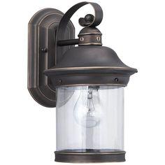 Sea Gull Lighting Clear Glass One Light Outdoor Wall Lantern