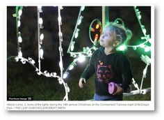 Christmas on the Cumberland, #STSTop20 Event for the sixth year in a row, Allison Lores, 2, looks at the lights during the 14th annual Christmas on the Cumberland Tuesday night at McGregor Park.
