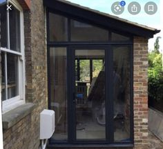 Garage Extension, Side Extension, House Extension Design, Glass Extension, House Design, Extension Google, Extension Ideas, House With Porch, House Front
